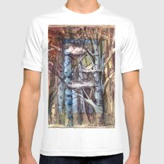 Clouds in the Trees MEDIUM White Mens Fitted Tee