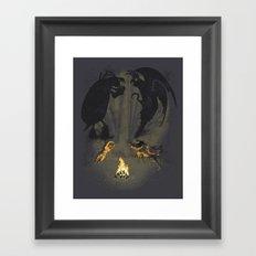 Let's settle it - in the shadows.  Framed Art Print