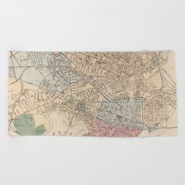 Vintage Map of Cambridge Massachusetts (1891) Beach Towel