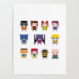 Pixel X-Men Poster