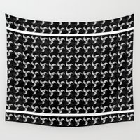 ying yang Wall Tapestries featuring Ying Yang Inspired by Gan Sher Rhie