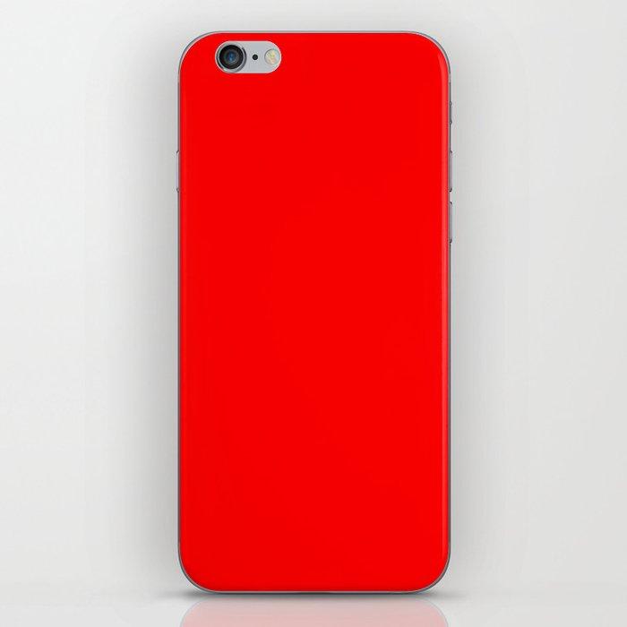 ff0000 Bright Red iPhone Skin