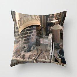 Vintage Blacksmith Throw Pillow