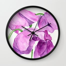 Huddled Against The Winds Wall Clock
