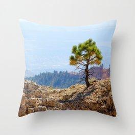 Small Tree Big World Throw Pillow