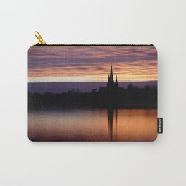 Sunset Reflection At The Lichfield Cathedral Carry-All Pouch