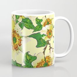 ABSTRACTED APPLE BLOSSOMS PATTERN Coffee Mug