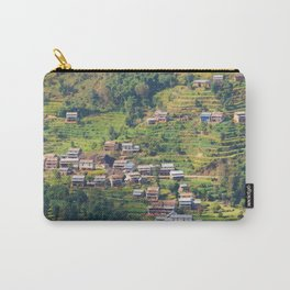 TERRACED HIMALAYAN FOOTHILLS VILLAGE IN NEPAL Carry-All Pouch