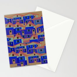 Houses pattern6 Stationery Cards