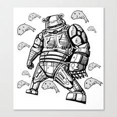 Robocop Robot Bear by RonkyTonk Canvas Print