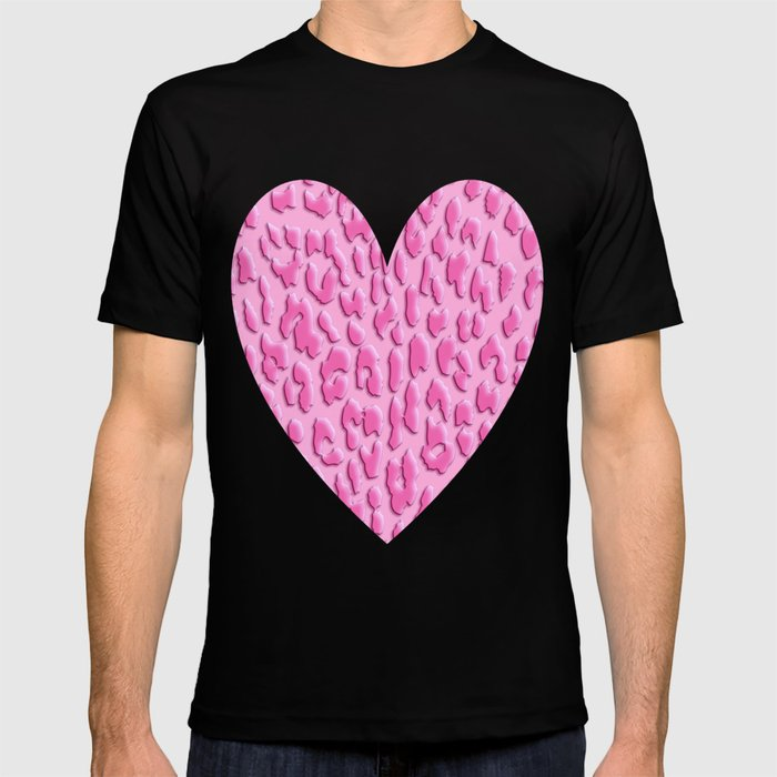 adc4b5232dcc Bright Pink Leopard Print T-shirt by serigraphonart | Society6