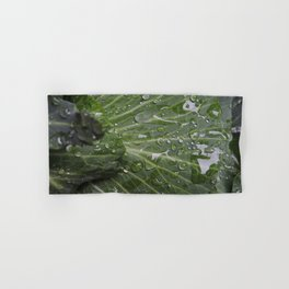 Nature's green and diamonds (2nd in the Cabbage collection) Hand & Bath Towel