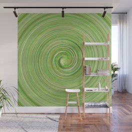 Green forest waves Wall Mural