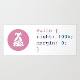Wife Art Print