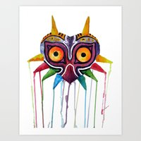majoras mask Art Prints featuring majoras mask by Haily Melendez