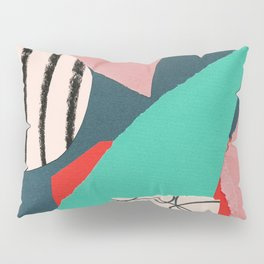abstract paper collage Pillow Sham