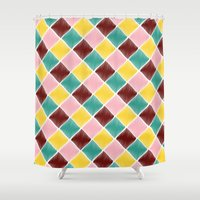 monroe Shower Curtains featuring Monroe by Dewi Gale