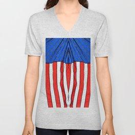 flag 2 Unisex V-Neck