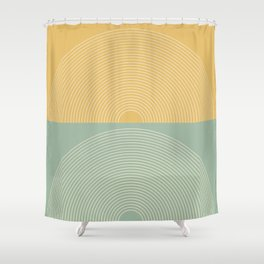 Minimal Rainbow Color Block IX Shower Curtain