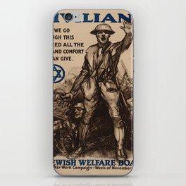 Vintage poster - National Jewish Welfare Board iPhone Skin