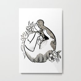 Cutie shy Metal Print