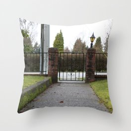 Front walk Throw Pillow