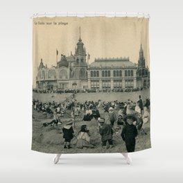 1900 Ostend Siesta on the Beach Shower Curtain