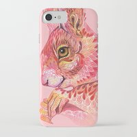 squirrel iPhone & iPod Cases featuring The squirrel magic  by Ola Liola
