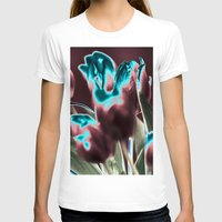 popart T-shirts featuring TULIPS - BROWN-BLUE - Popart by CAPTAINSILVA