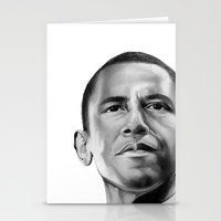obama Stationery Cards featuring Obama by Emma Porter