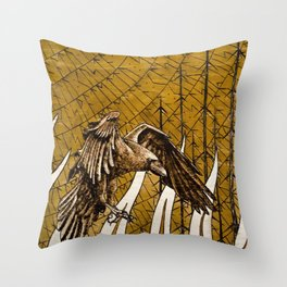 The Birth of the Raven Throw Pillow