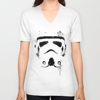 trooper V-neck T-shirts featuring Trooper by Purple Cactus