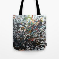 splatter Tote Bags featuring Splatter by Magma