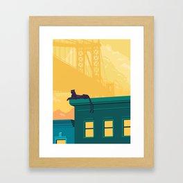 Urban jaguar Framed Art Print