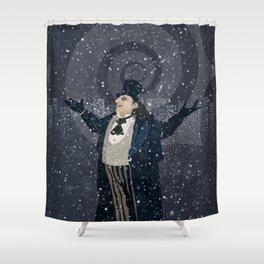 Oswald Cobblepot - The King Penguin Returns! Shower Curtain