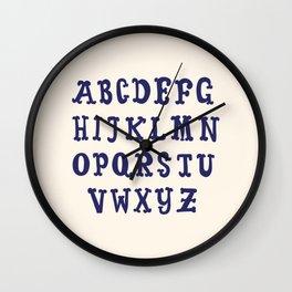 ABC Alphabet Table Wall Clock