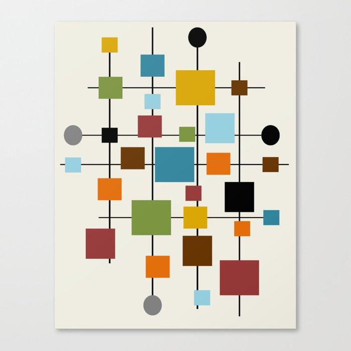 Mid-Century Modern Art 1.3 Leinwanddruck