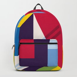 Abstract modern geometric background. Composition 13 Backpack