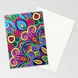 Saratoga Rainbow Swirls Absract Stationery Cards