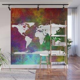 WORLD MAP #society6 Wall Mural