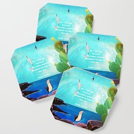 I LOVE YOU Inspirational Quote Coaster