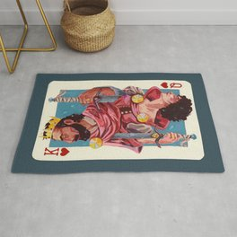 Queen and King of hearts Rug