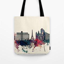 Las Vegas City Skyline Tote Bag