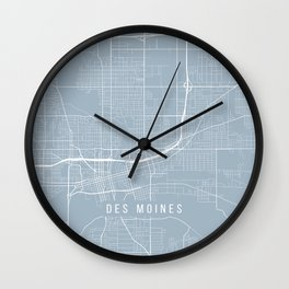 Des Moines Map, USA - Slate Wall Clock