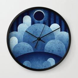 The Moon - Ina Caldera Wall Clock