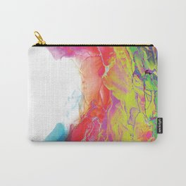 Trippy Rainbow Wave Painting Carry-All Pouch