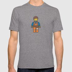 #10 Emmet Lego Tri-Grey X-LARGE Mens Fitted Tee