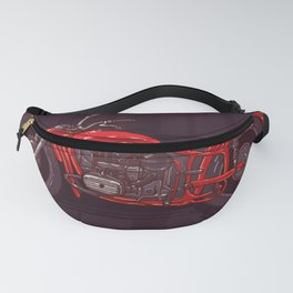 red vintage motorcycle Fanny Pack