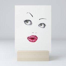 Doll Face Mini Art Print