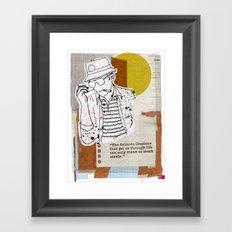The Rum Diary…Hunter S Thompson Framed Art Print